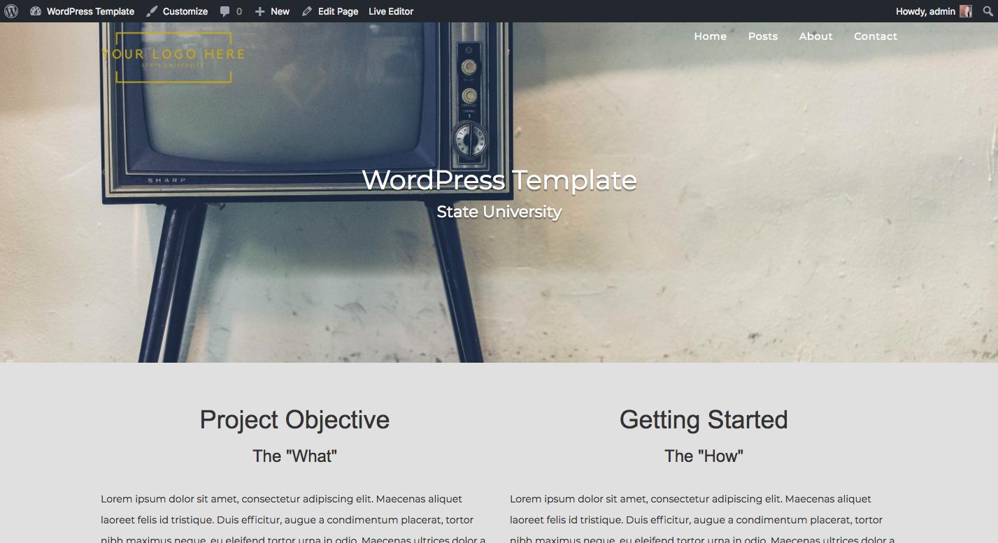 Creating a WordPress Template