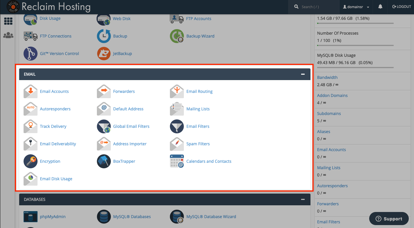 Removing Email Section from cPanel