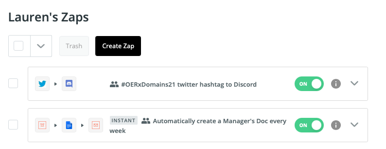 Cool things I've done with Zapier recently